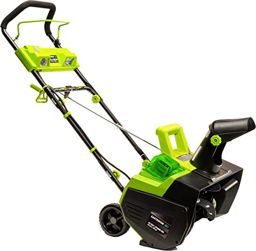 Earthwise SN74022 22-Inch 40-Volt Cordless Electric Snow Thrower, 4.0AH Battery Charger Included