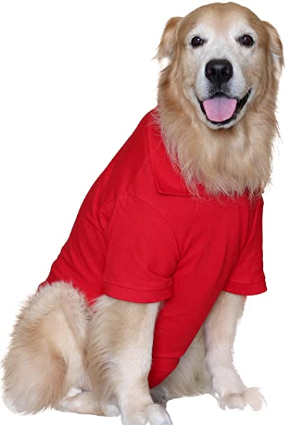 Doxters S26 Dog Polo T Shirts Red Size 26 100 Cotton For Large