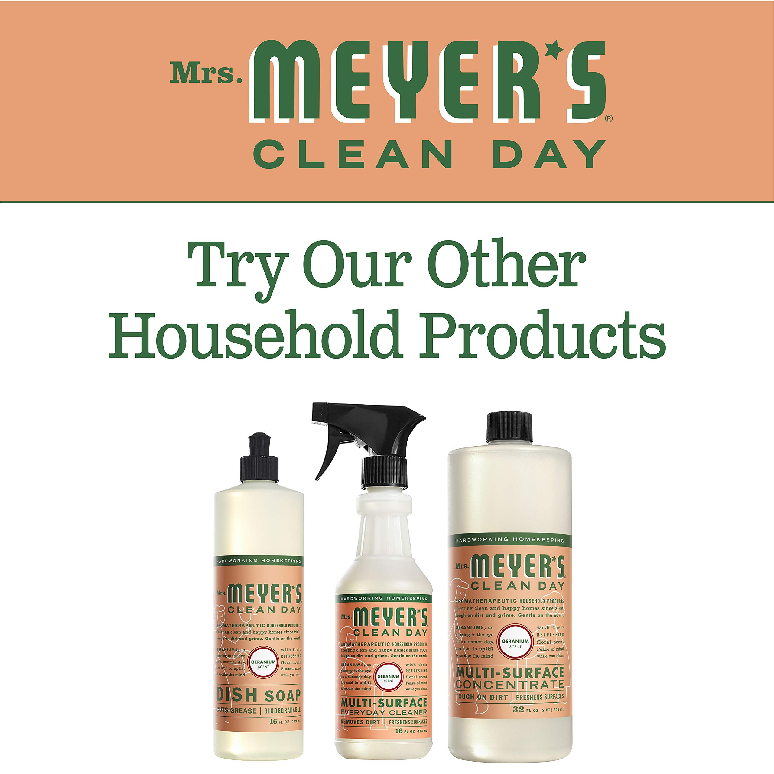 Mrs. Meyer's Clean Day Multi-Surface Concentrate, Geranium, 32 fl oz, 2 ct by Mrs. Meyer's Clean Day (Image #6)
