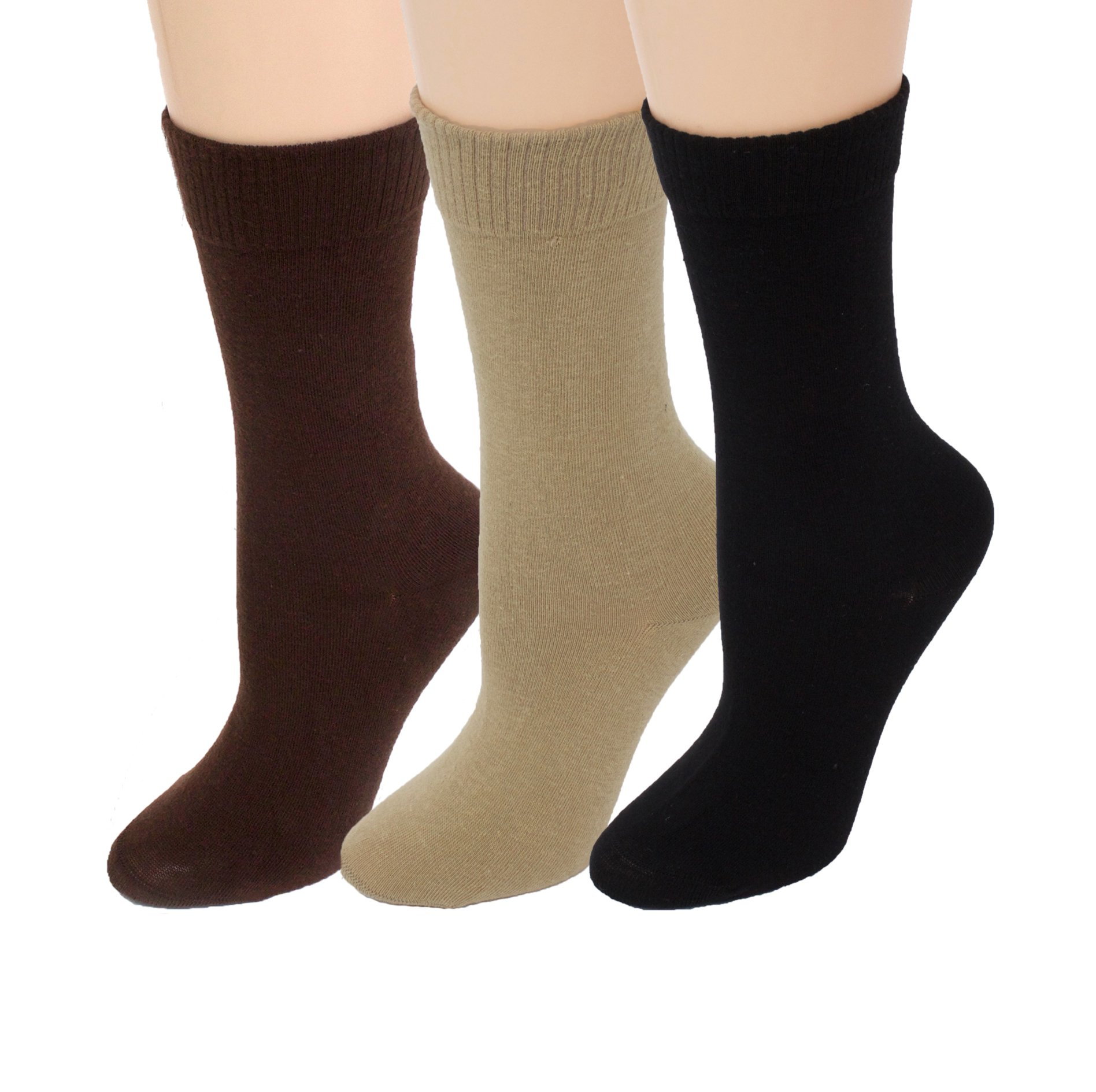 Amazon.com: Diabetic Socks | Womens Black/Navy/Grey Crew