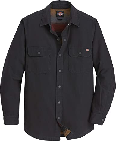 Dickies Regular Fit Flannel Lined Duck Shirt Camisa Work Utility para Hombre