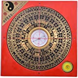 43 inch feng shui compass luo panlou pan tool free red string bracelet chinese feng shui compass