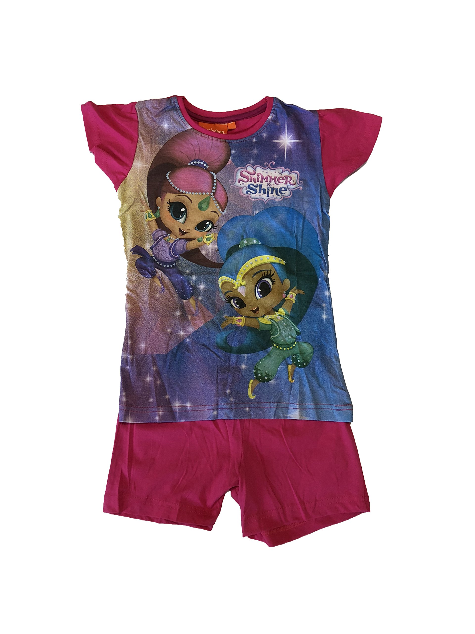 Shimmer and Shine Official Licensed Nickelodeon Girls Short Summer Pyjamas (Pink, 7 Years)