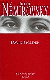 David Golder : (*) (Les Cahiers Rouges)