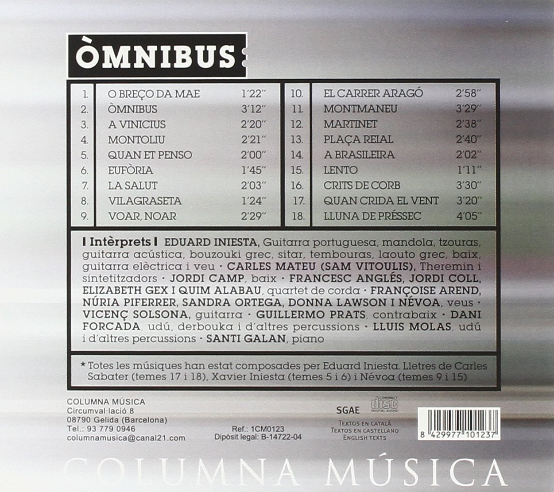 ... Carles Mateu, Jordi Camp, Francesc Angles, Jordi Coll, Sandra Ortega, Santi Galan, Lluis Molas, Dani Forcada - Iniesta: Omnibus - Amazon.com Music