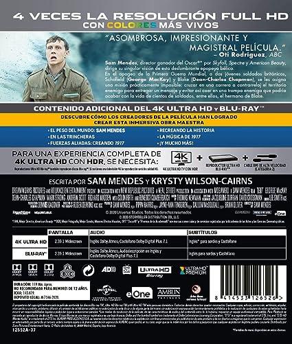 1917 (4K Ultra HD + BD) [Blu-ray]: Amazon.es: Dean-Charles Chapman ...