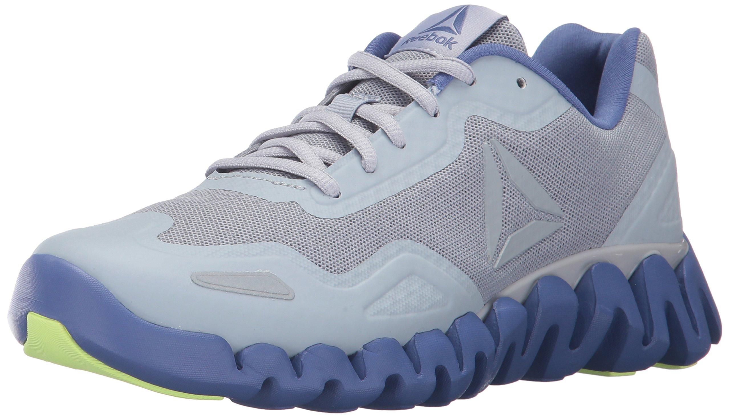 Reebok Women's Zigpulse Track Shoe, Cloud Grey/Lilac Shadow/Electric Flash, 7.5 M US,Cloud Grey/Lilac Shadow/Electric Flash,7.5 M US