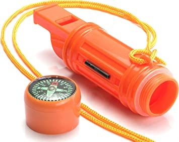 Survival Kit-Waterproof matches case match holder container new WHISTLE//COMPASS