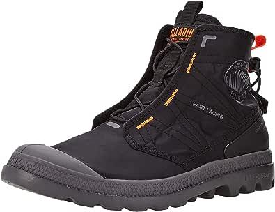 Palladium Unisex Adults' Pampa Travel LITE Sneaker, Black Black, 9 UK