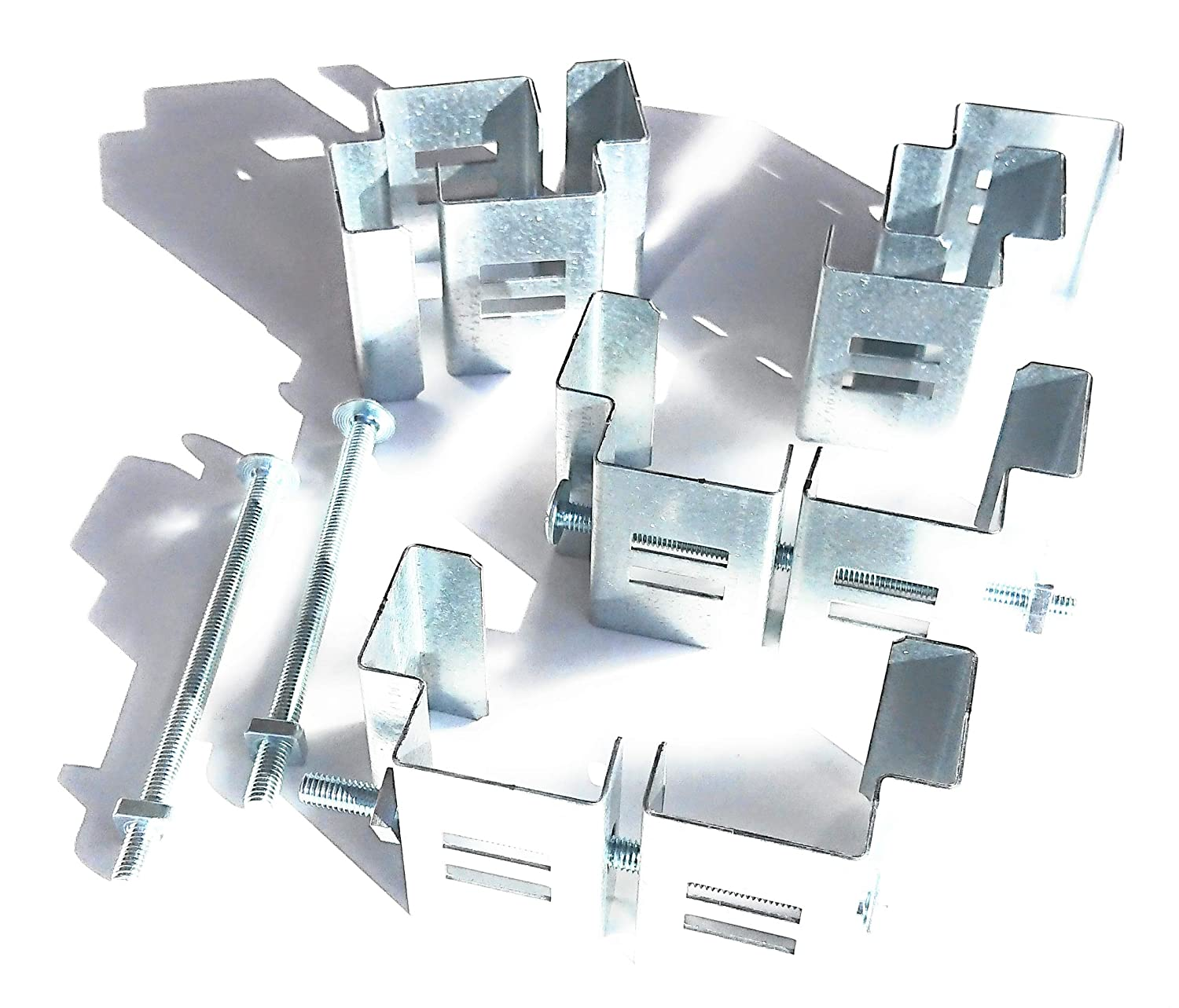 Postfix Slotted Concrete Fence Post Brackets to Fit 4\