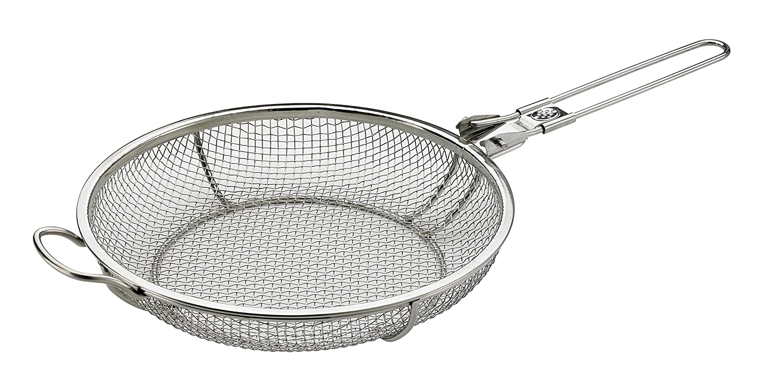 HIC Harold Import Elizabeth Karmel's Sizzlin' Skillet Grill Pan and Vegetable Grill Basket, Stainless Steel, 11-Inch x 2.25-Inch Harold Import Company 60595