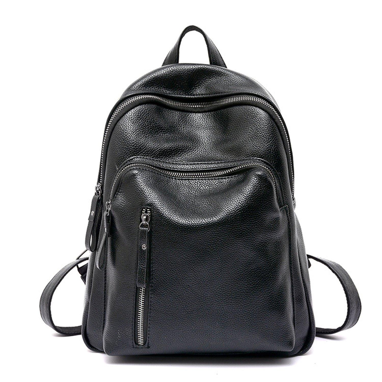fashion ladies shoulder bag PU motorcycle backpack wildbackpack,black