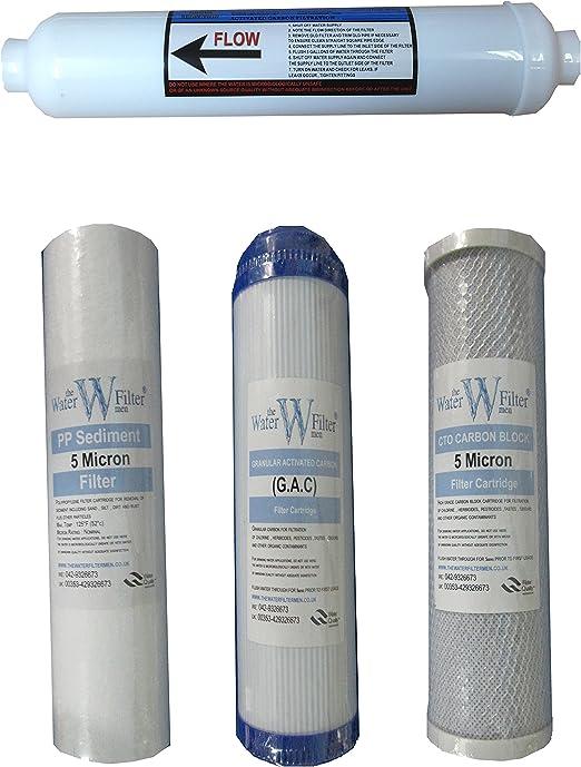Sistema de filtro de agua de ósmosis inversa juego de filtros (4 ...