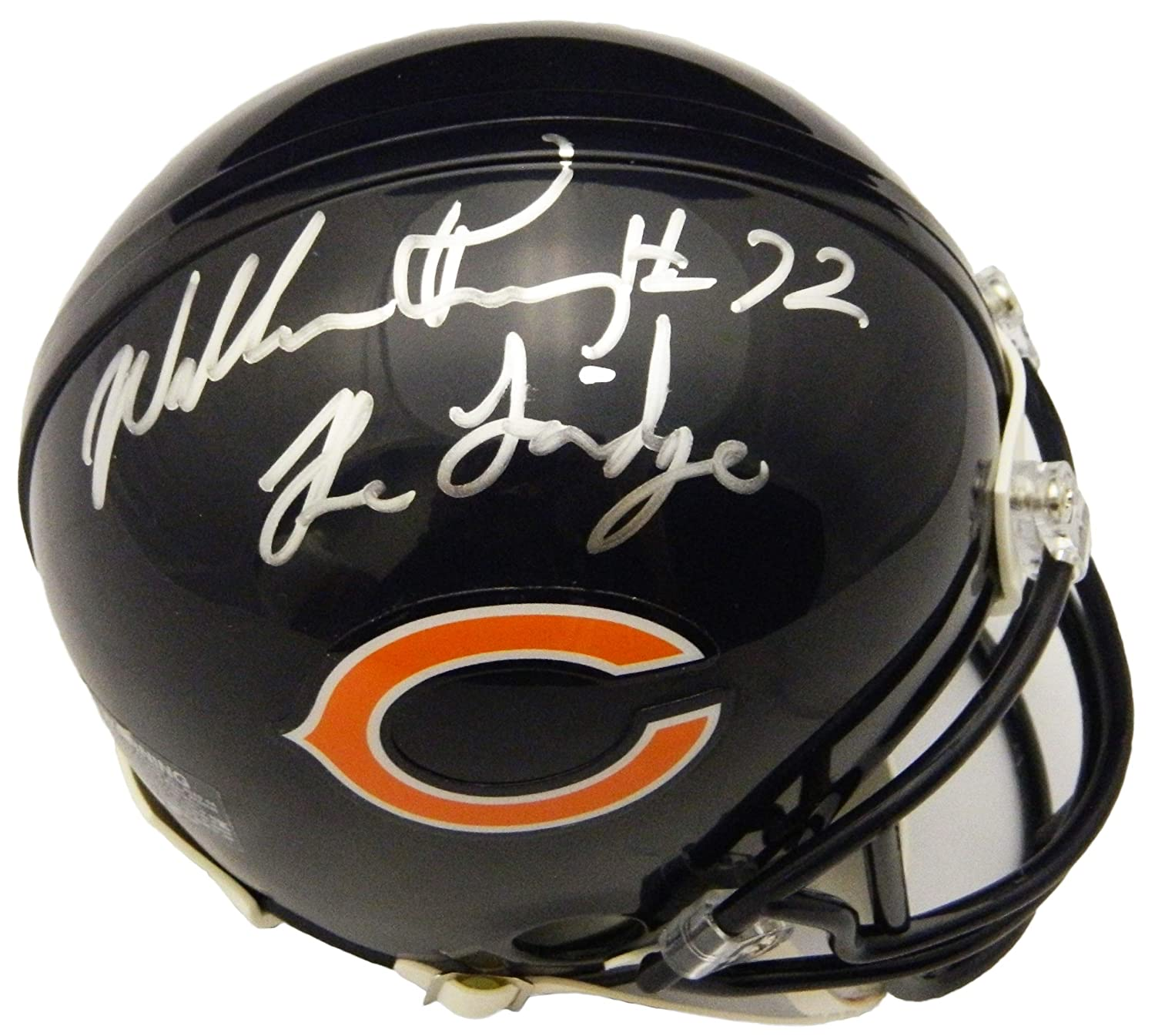 4a2e4be4e04 Amazon.com  William Perry Signed Chicago Bears Riddell Mini Helmet w The  Fridge  Sports Collectibles