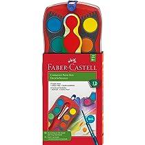 Faber-Castell 125023 - Estuche de 12 acuarelas Connector, pincel, multicolor: Amazon.es: Oficina y papelería