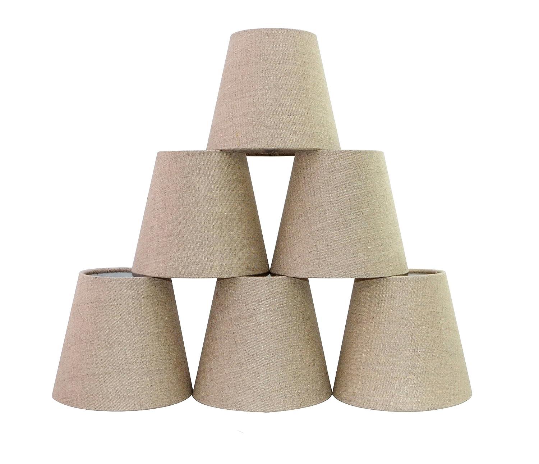 Doooitlight set di 6 clip paralumi per candela lampadario di cristallo Off white