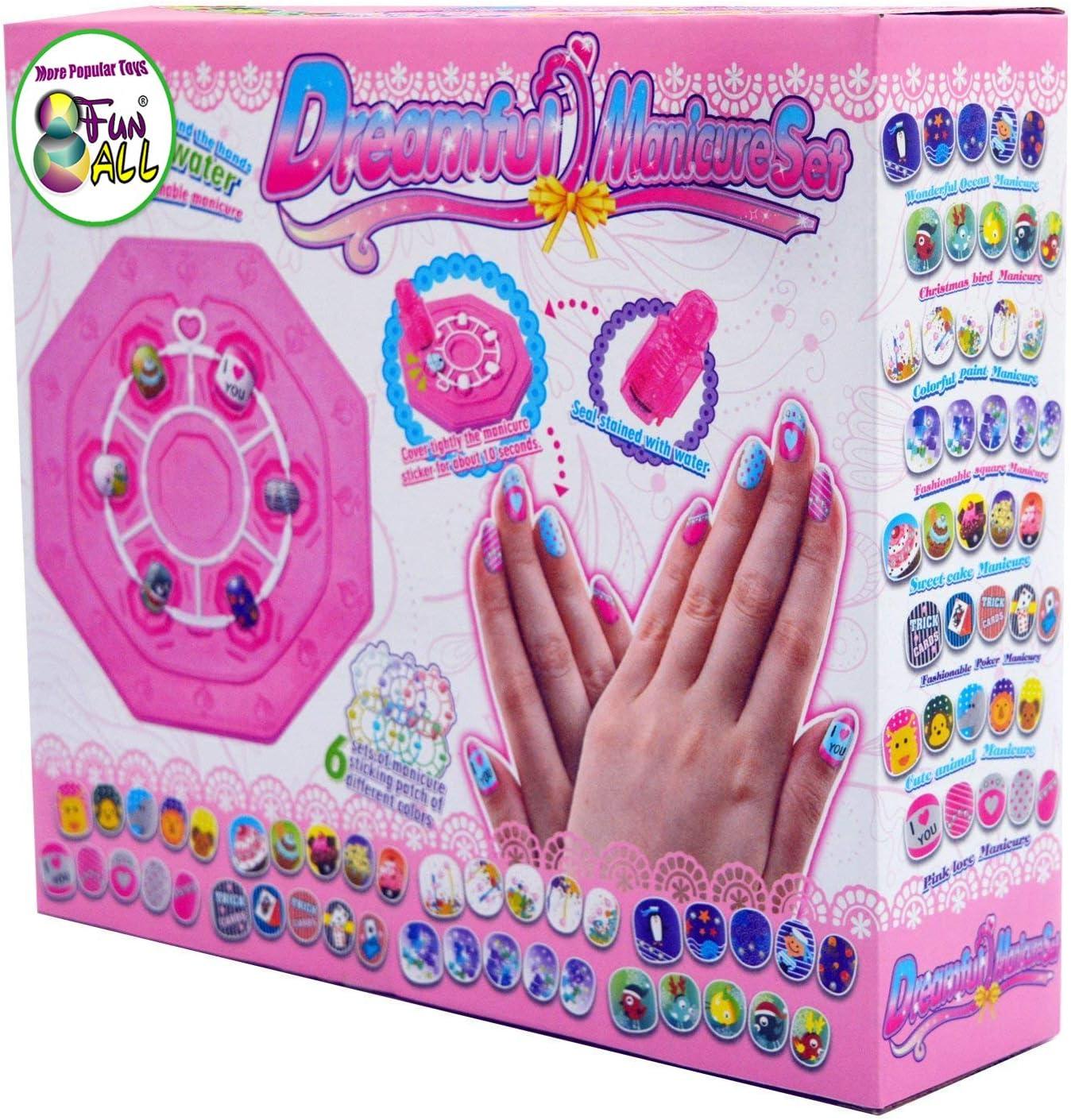 Amazon.com: Juego de pegatinas de uñas para niños ...