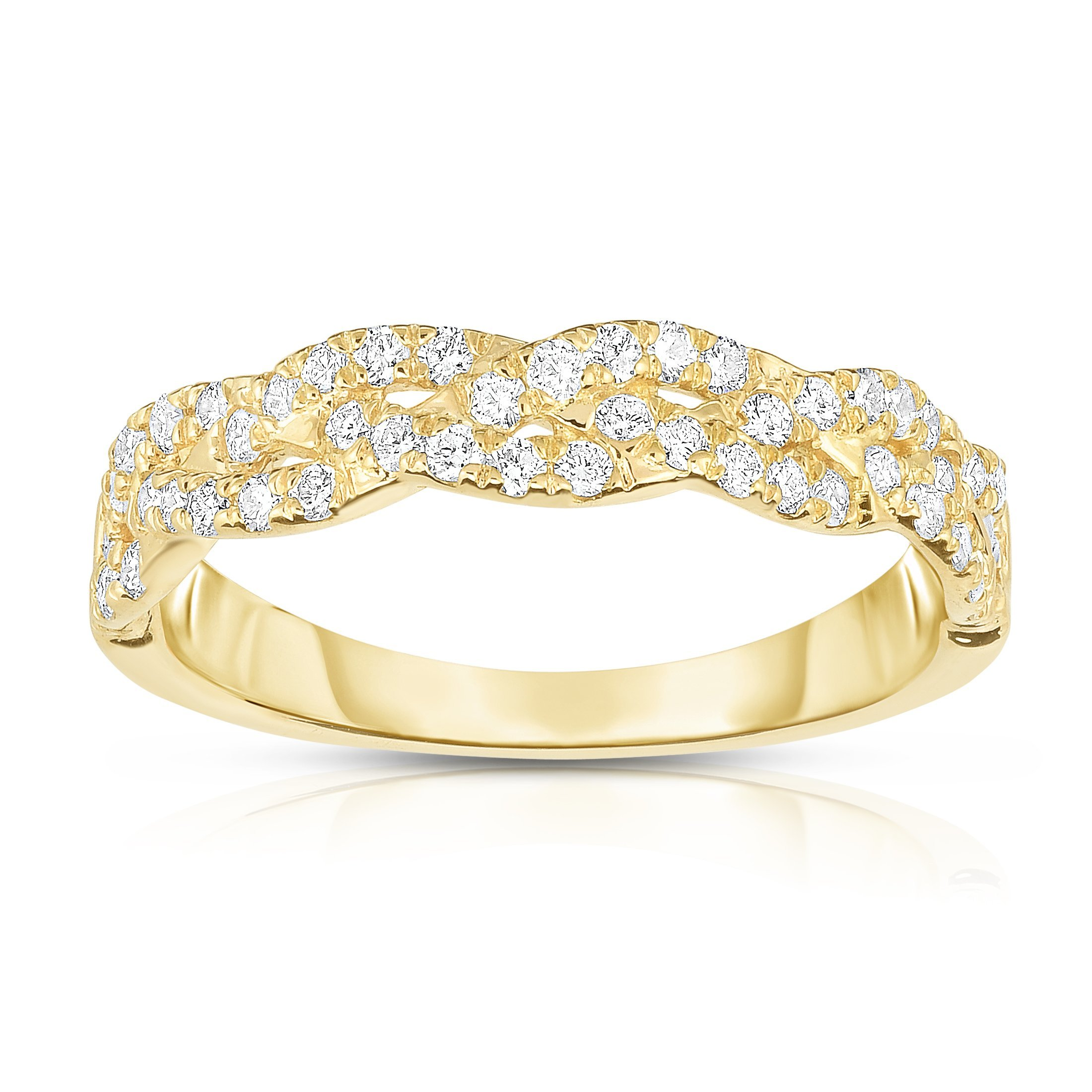 Noray Designs 14k Yellow Gold Diamond (0.45 Ct, G-H Color, SI2-I1 Clarity) Infinity Ring