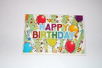 Happy Birthday Karte.Geburtstagskarte Glückwunschkarte Grusskarte Geschenkskarte