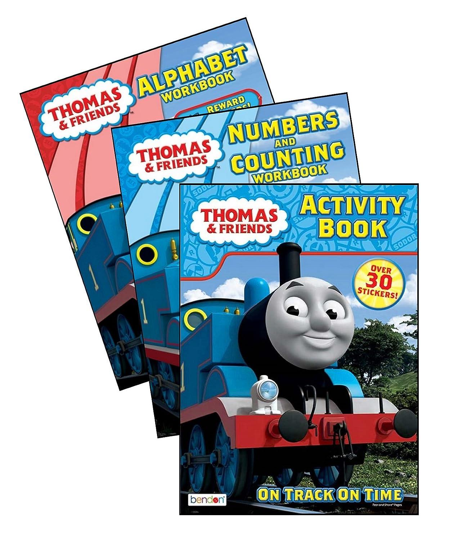 Bundle of 3 Thomas & Friends Coloring & Activity Books - Alphabet ...