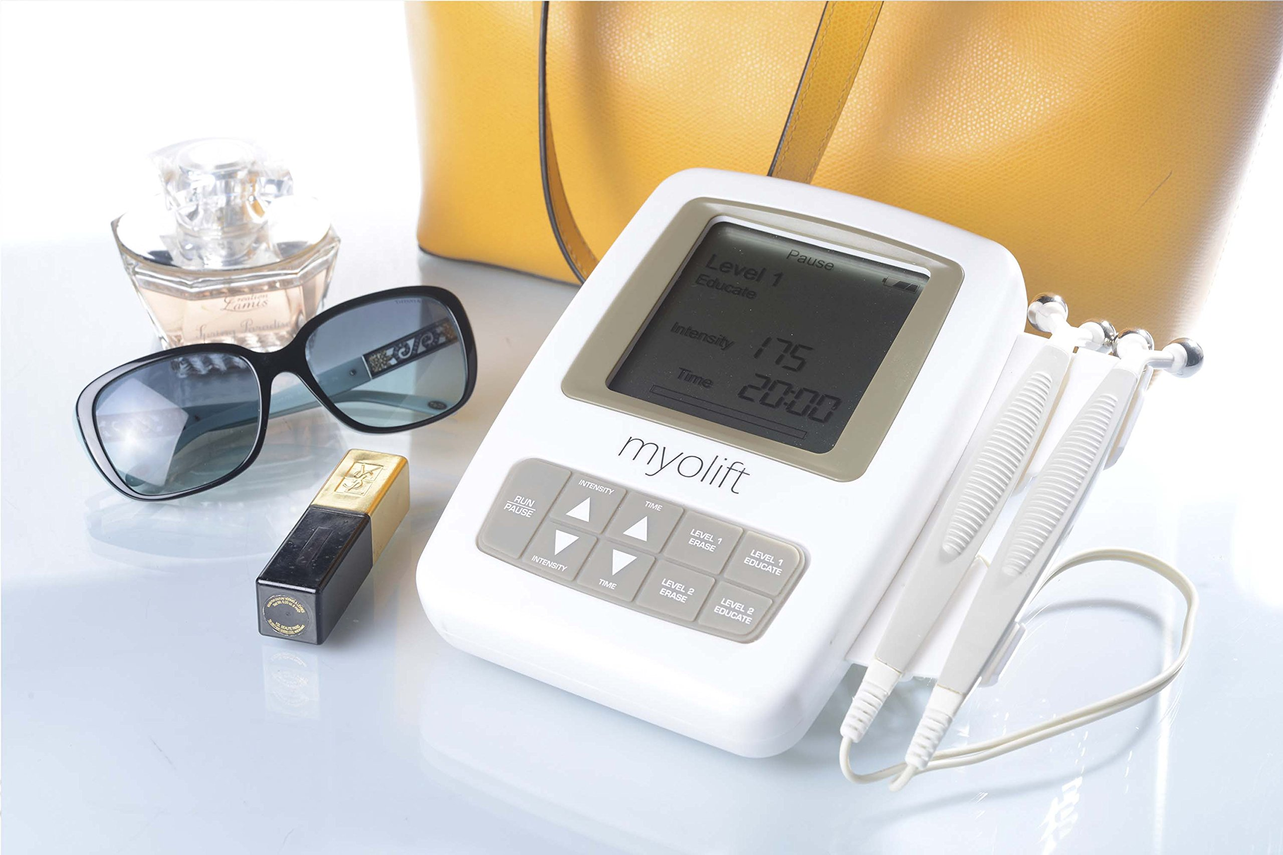 7E Myolift Professional Portable TRUE Microcurrent Face Lift Machine for face lifting, skin tightening, and skin toning. Microcurrent Device for Non Surgical Face Lift