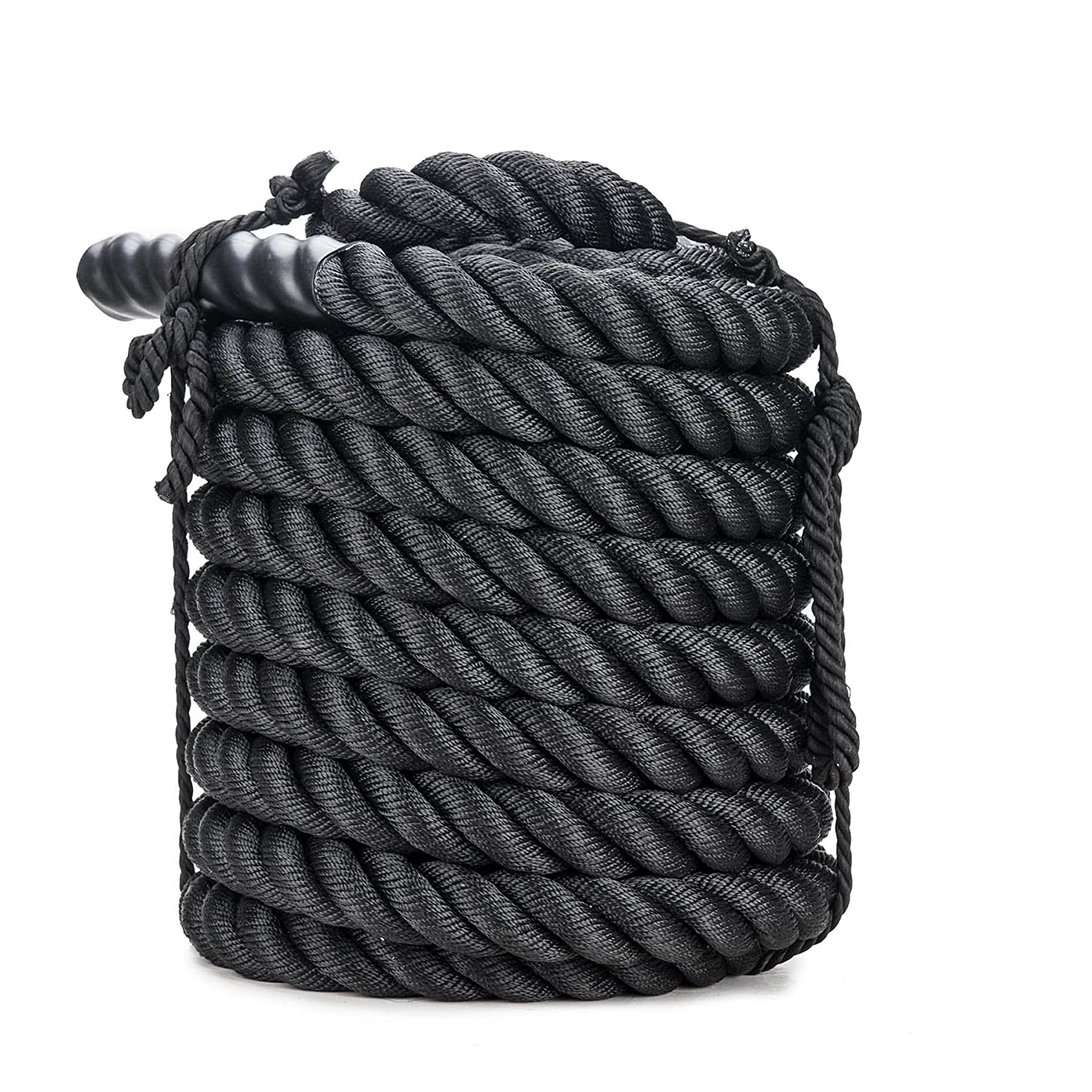 ZELUS Battle Ropes Pure Poly Dacron Exercise Ropes – 1.5 2 Diameter 30 40 50ft Length Exercise Training Battle Rope for Strength and Conditioning Workouts