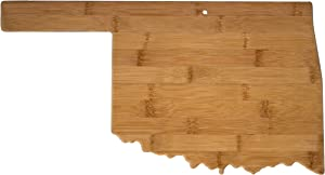 Totally Bamboo Oklahoma State Shaped Bamboo Serving & Cutting Board