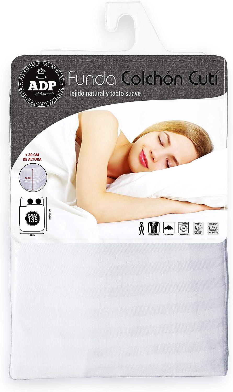 ADP Home - Funda de colchón Cutí con Cremallera L, 135x200+30 cm ...