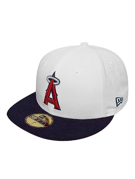 New Era Mujeres Gorras   Gorra plana White Top Team Anaheim Angels   Amazon.es  Ropa y accesorios 6bd45adccfc