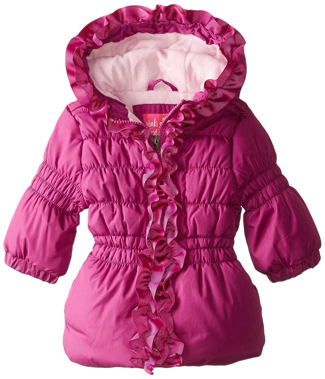 Pink Platinum baby-girls Baby Baby Grosgrain Detail Puffer PP64060