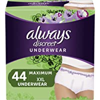 2-Pack Always Discreet Incontinence & Postpartum Underwear for Women