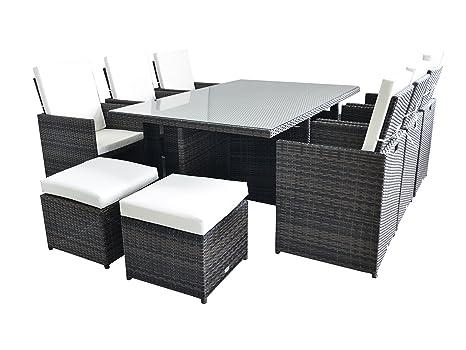 Set da a posti di mobili da giardino in rattan set di cubi da
