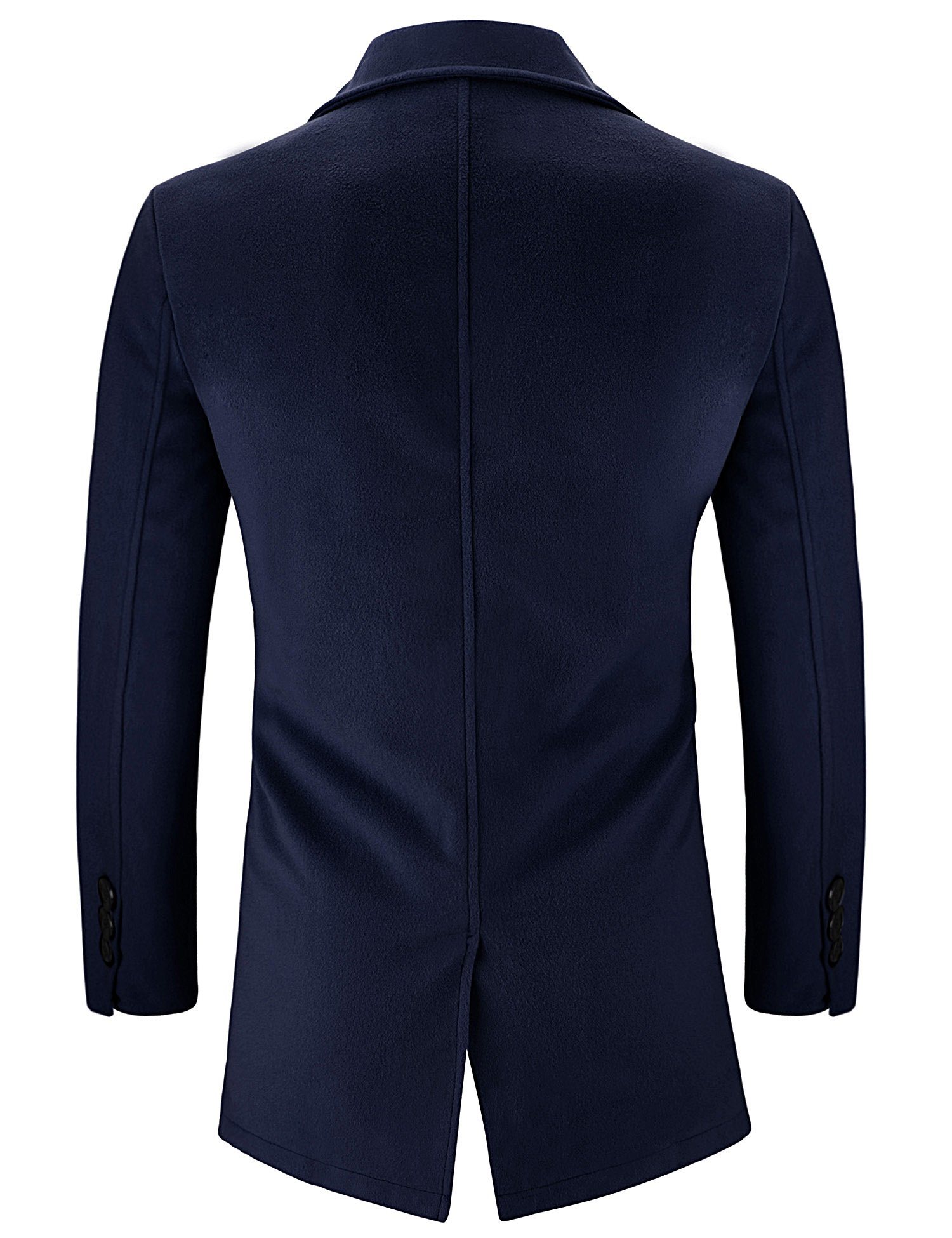 Hasuit Men's Single Breasted Notched Lapel Coat by Hasuit (Image #3)