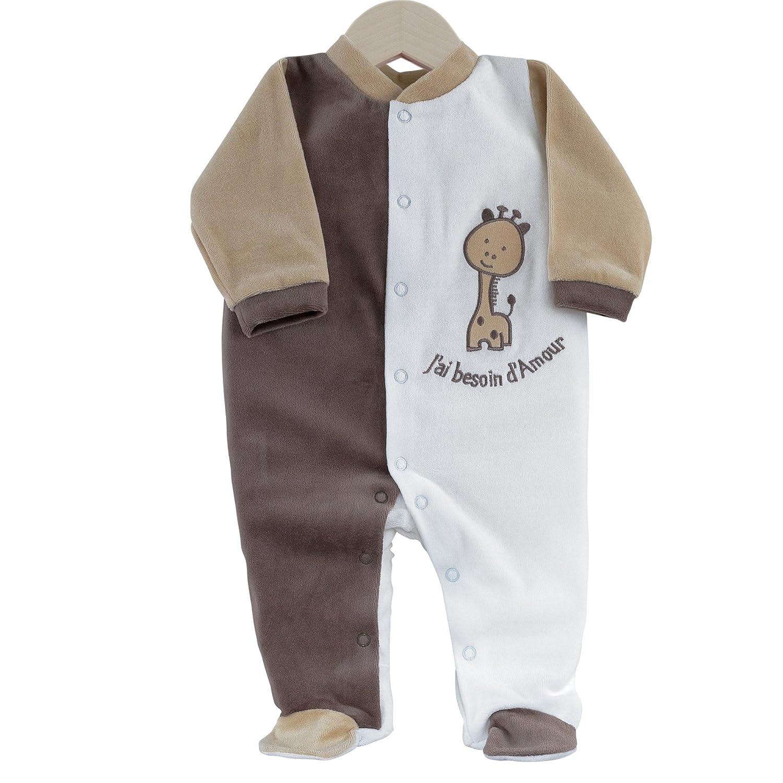 Kinousses bisogno di amore Pigiama tutina bebè, unisex, in velluto 0 mese (nascita) 810 2050 - 0M