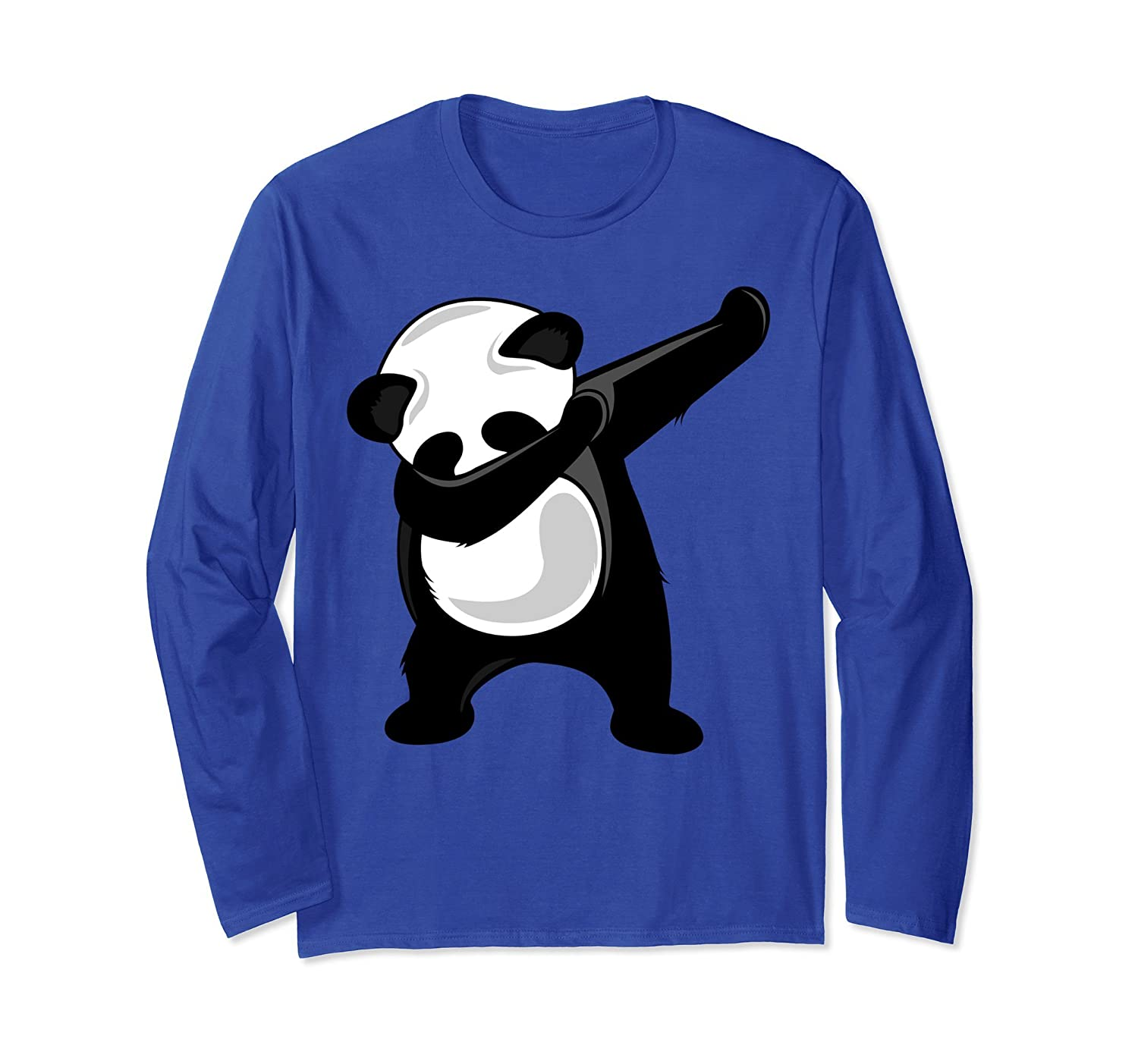 Dabbing Panda Shirt - Panda Bear Dab Dance Long Sleeve Shirt-alottee gift
