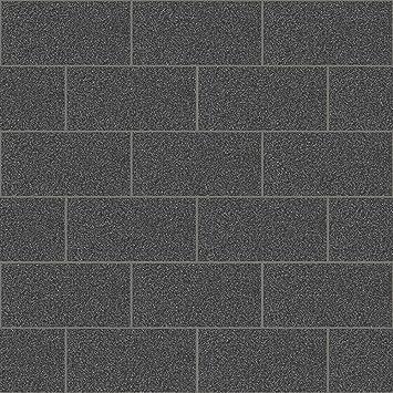 Crown Wallcoverings London Glitter Tile Wallpaper Black M1055 Full Roll By
