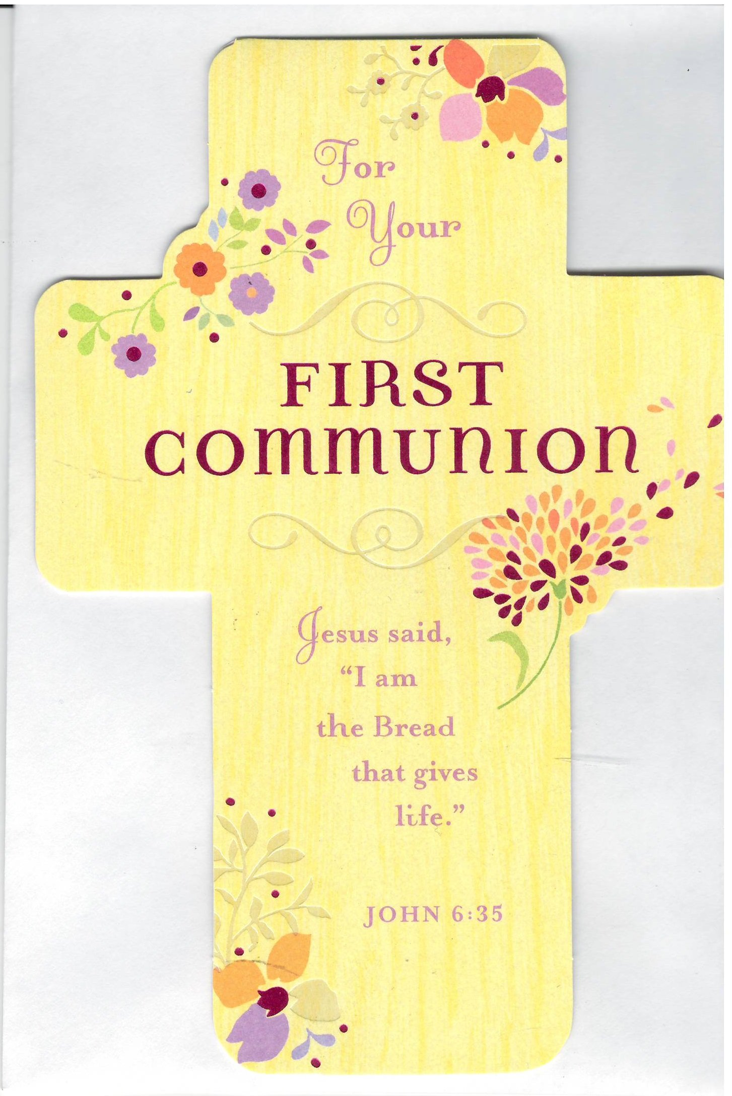For Your First Communion Crad With Envelope (For Girl) PDF