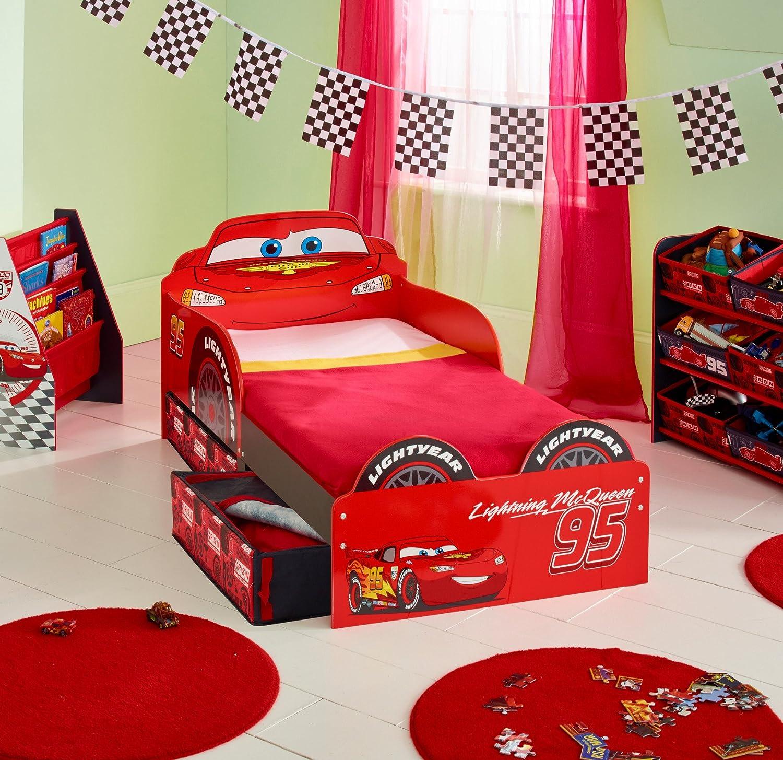 Lightning Mcqueen Bedroom Accessories Disney Cars Lightning Mcqueen Kids Toddler Bed With Underbed