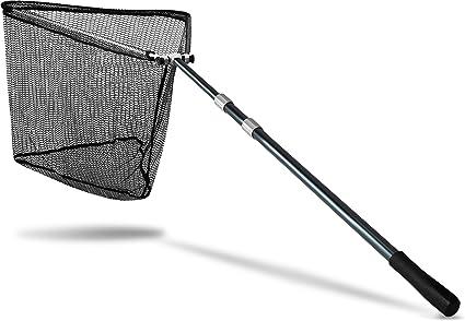 Zite Fishing Kescher Gummiert zum Angeln Teleskop