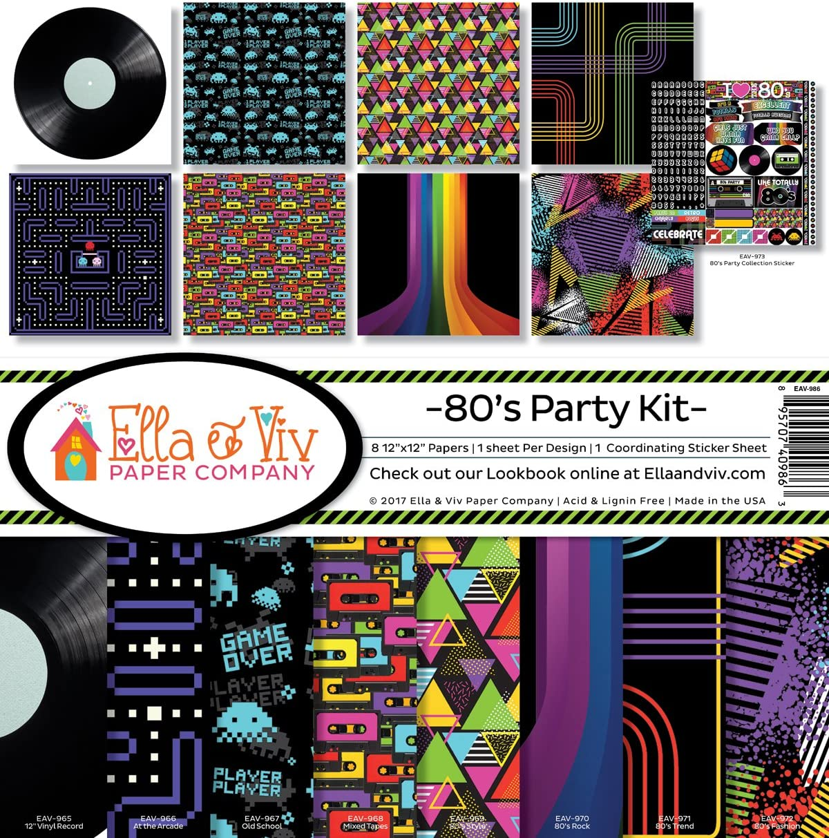Ella /& Viv by Reminisce Dark Hallow Scrapbook Collection Kit
