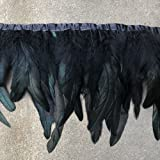 Shekyeon 2yards Rooster Feather Fringe Trim for