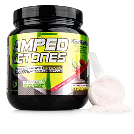 AMPED Ketones Exogenous Ketones Keto BHB Supplement – Pure Ketone Powder Perfect for Quicker Ketosis – Ketogenic Salts Pre Workout and Energy Supplements – 12g of Beta Hydroxybutyrate Drink Mix
