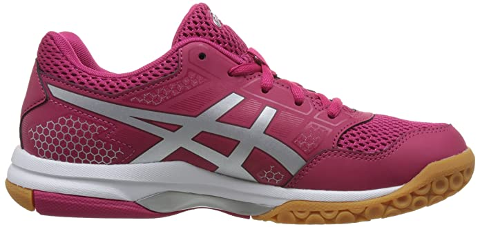 Amazon.com | ASICS Womens Gel-Rocket 8, Bright Rose/Silver/Burgundy, 8 B(M) US | Tennis & Racquet Sports