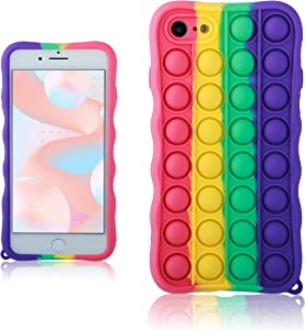 oqpa for iPhone 6 Plus/6S Plus Case Cartoon Kawaii Funny Cute Fun Silicone Design Cover for Girls Kids Boys Teen,Fashion Unique Cases Fidget Aesthetic Bubble Rainbow(for iPhone 6 Plus/6S Plus 5.5