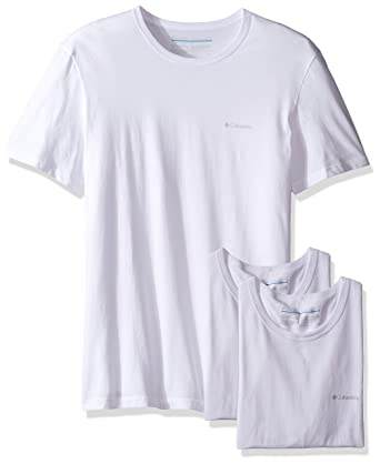 cd6253adcaa Columbia Men's 3-Pack Cotton Crew Neck T-Shirt at Amazon Men's Clothing  store: