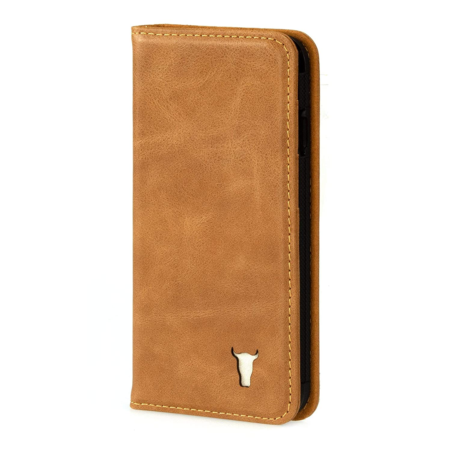 finest selection 8804a a1710 TORRO iPhone 6 / 6S USA Tan Leather Case With Stand Function