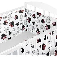Kinderbedje Bumpers All Round Padded - Baby wieg Bumper wieg Liner Wrap (2.Muizen op wit, 180 cm)