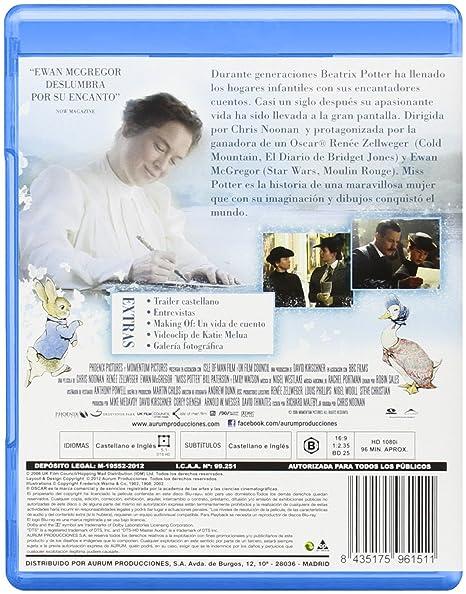 Miss Potter Blu Ray Import 2012 Renée Zellweger Ewan