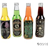 12 Halloween Bottle Labels