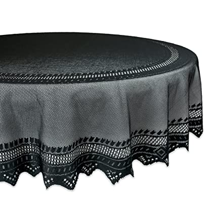 Superieur DII 70u0026quot; Round Polyester Lace Tablecloth, Black Nordic   Perfect For  Halloween, Dinner